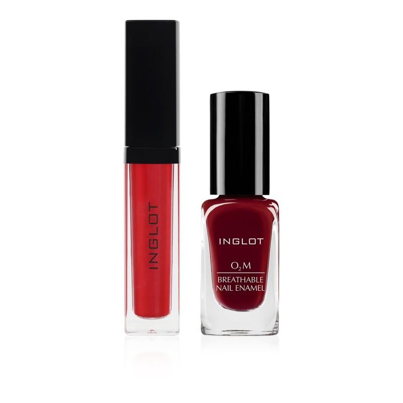 HD Lip Tint Matte 12, O2M Breathable Nail Enamel 652 Set 4