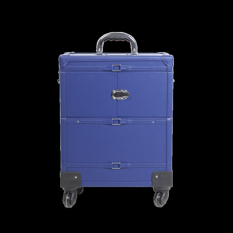 Makeup Case with Wheels Cobalt Blue (KC-393P)