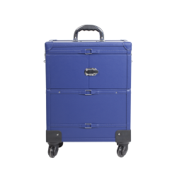 Makeup Case with Wheels Cobalt Blue (KC-393P)