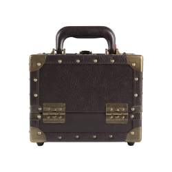 Makeup Case Retro Fashion Small Brown (KC-153BR)
