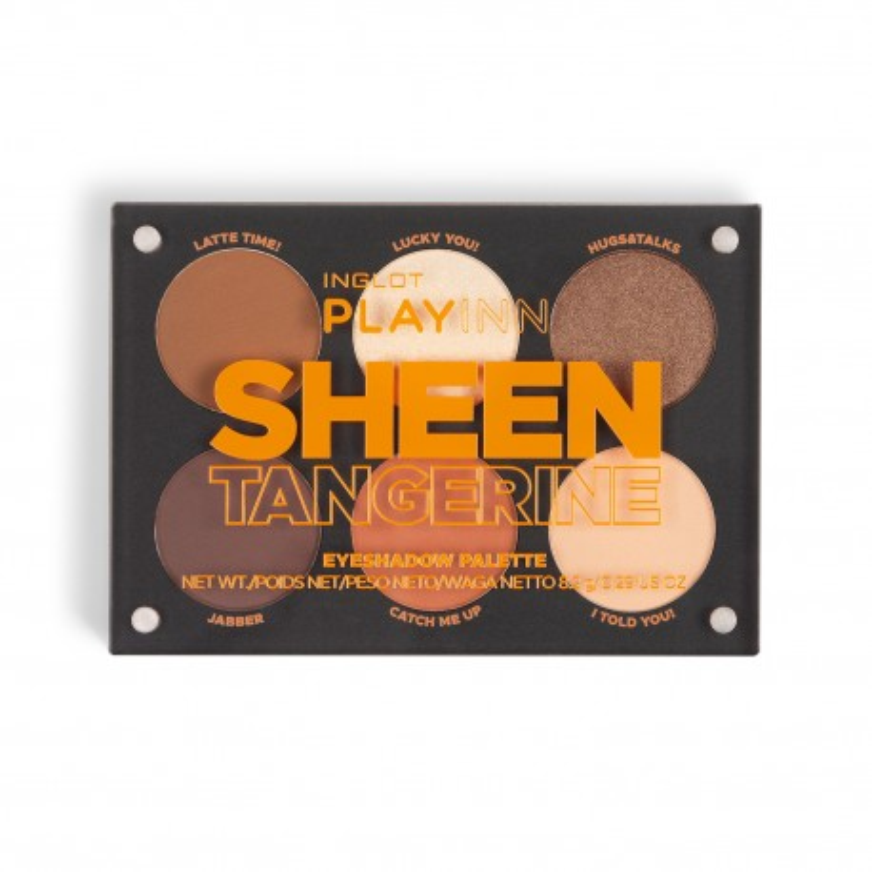 INGLOT PLAYINN Sheen Tangerine Eye Shadow Palette
