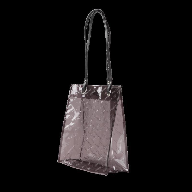 Brown Transparent Shopping Bag - Inglot Cosmetics