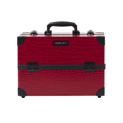 Makeup Case Crocodile Leather Pattern Medium Red (KC-PAC01)