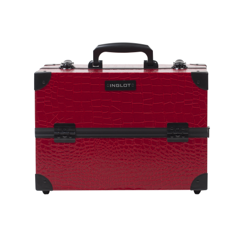 Makeup Case Crocodile Leather Pattern Medium Red (KC-PAC01)