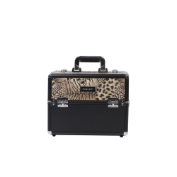 Makeup Case Leaopard Leather Pattern (KC-156-LP)