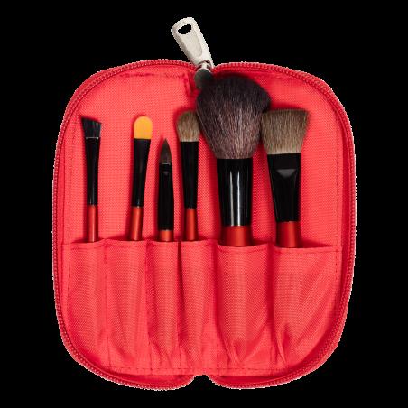 Travel Brush Set (6 PCS) RED