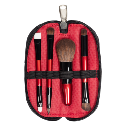 icon Travel Brush Set (4 PCS) RED