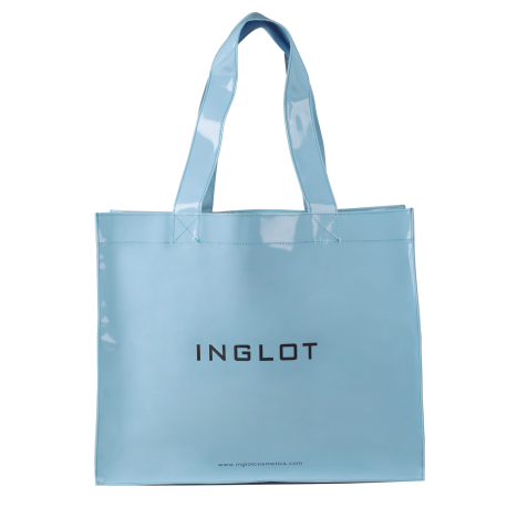 Pattented Shopping Bag Pastel Blue