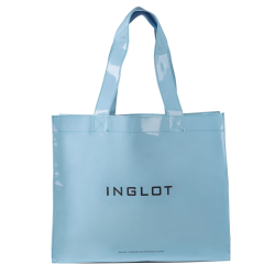 Pattented Shopping Bag Pastel Blue icon