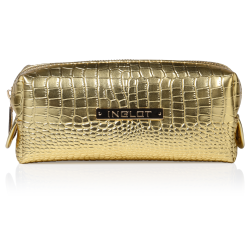 Cosmetic Bag Crocodile Leather Pattern Gold Small (R24393) icon