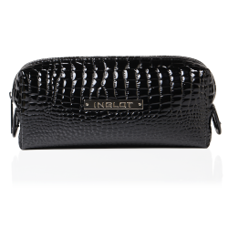 Cosmetic Bag Crocodile Leather Pattern Black Small (R24393) icon