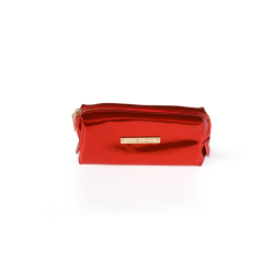 Cosmetic Bag Mirror Red