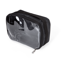 Travel Makeup Bag Black L