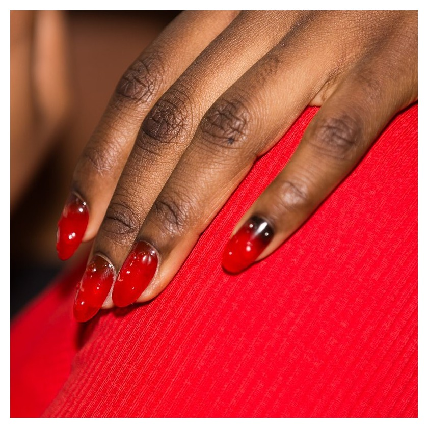 Fresh Tomato nail trend for KENZO during Paris Fashion Week