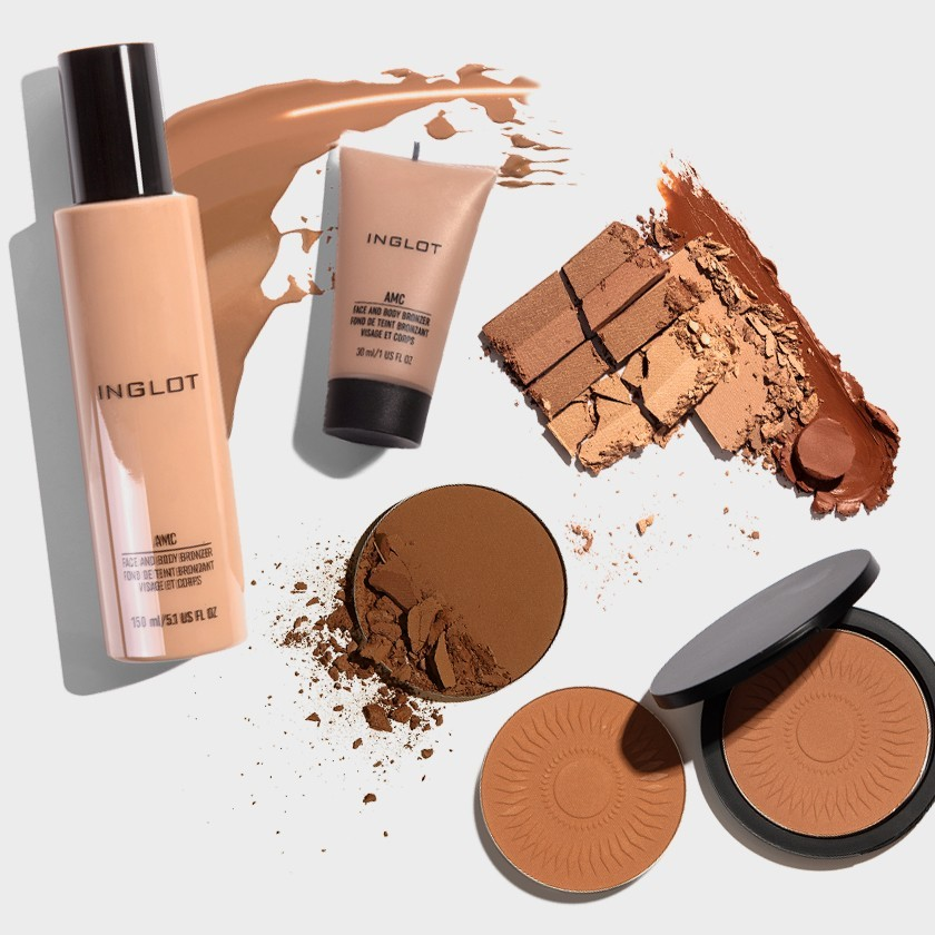 The effect of sun-kissed skin with INGLOT bronzers!